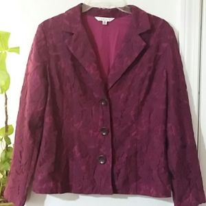 Lace lined CAbi blazer jacket size 6 fitted